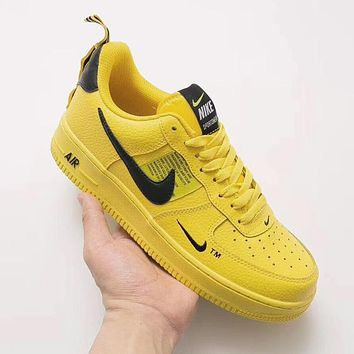 Nike Air Force 1 Low Tide brand simple fashion wild low-top sports shoes Yellow