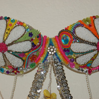 Custom Beaded Rave Bra