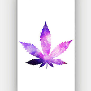 Galaxy Marijuana - Galaxy Weed - Funny - Full printed 3D case for iPhone 4/4S/5/5S/5C/6/6 Plus - by HeartOnMyFingers - CMB-435