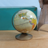 Metal Replogle 6 inch World Globe The Revere Circa 1973