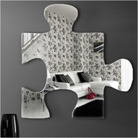 "Graham & Brown - Acrylic Shaped Mirror - Jigsaw Mirror - 16"" X 16"" 