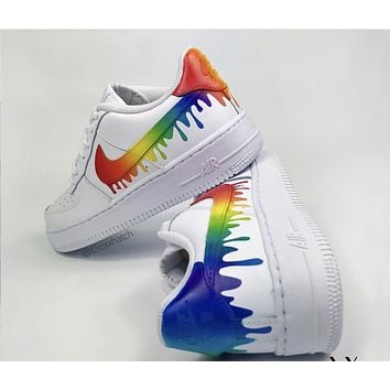 "Rainbow Custom Air Force 1 Drip"" Customs"