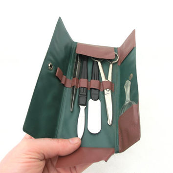 Vintage cosmetic case Manicure Set 70s