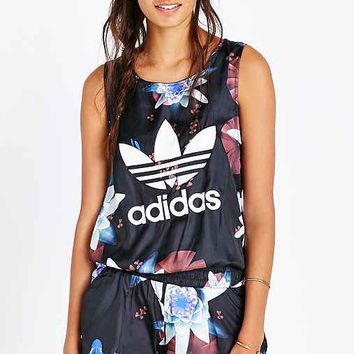 adidas Originals Lotus Print All-In-One Romper- Multi