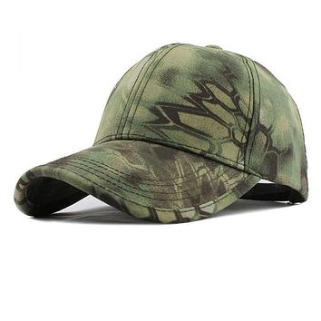 Men's Snapback Camouflage Tactical Hat Army Tactical Baseball Cap Head Camouflage Caps Sun Hat Golf Hats for Men and Women