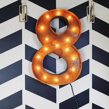 "24"" Number 8 (Eight) Sign Vintage Marquee Lights"