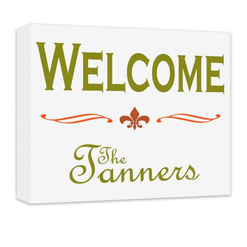 Personalized Family Welcome Canvas Wall Art