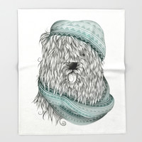 Shaggy Dog Throw Blanket by LouJah | Society6