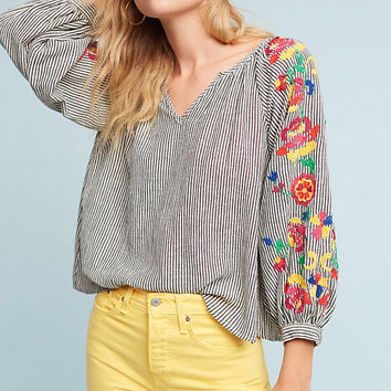 Embroidered Soleil Top