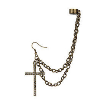 Bling Cross Ear Cuff