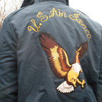 Awesome US Air Force Bomber Jacket with Eagle, Military Gear