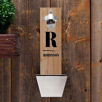 Personalized Wall Mounted Bottle Opener Free Engraving