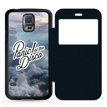 Panic at the Disco on the sky Leather Wallet Flip Case Samsung Galaxy S5