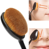 Oval Makeup Tool Cosmetic Foundation Cream Powder Blush Makeup Brush