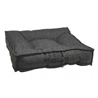 MicroLinen Square Piazza Dog Bed — Storm