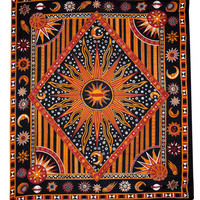 Mandala Blanket- Red and Black Elephants