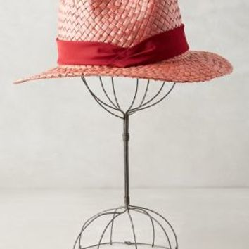 Manzaneda Fedora by Anthropologie in Red Size: One Size Hats