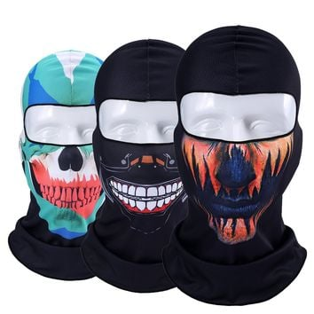 Orcs Clown Jocker Balaclava Bicycle Snowboard Tactical Military Army Winter Halloween Party Cap Hats Full Face Mask