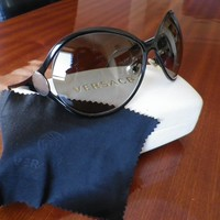 Versace Women Oversized Black Sunglasses Mod. 2098