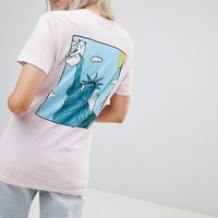 RIPNDIP Relaxed Pocket T-Shirt With Statue Of Liberty Back Print at asos.com