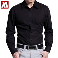 New Autumn Fashion Men Clothes Slim Men Long Sleeve Dress Shirts Classic Casual Men Business Shirt Social