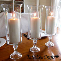 "SET OF 10, 13""Tall Clear Wedding Centerpieces, table centerpiece, party centerpiece, candle holder."