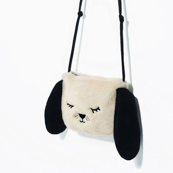 LITTLE DOG FAUX FUR CROSSBODY BAG DETAILS