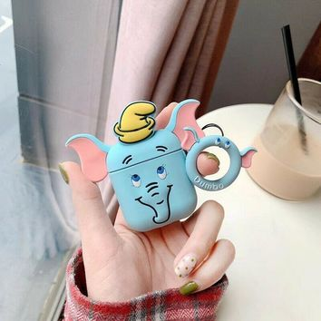 Blue Dumbo Elephant Classic Disney Apple Airpods Case FREE SHIPPING