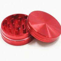 Aluminum Herb Grinder and Spice Grinder 2 Parts Magnetic Tobacco Grinder Color Red