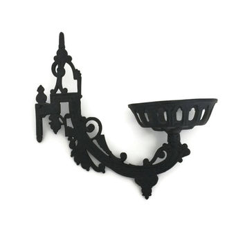 Oil Lamp Sconce, Cast Iron Candle Holder, Candle Wall Sconce, Cast Iron Wall Decor