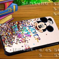Disney Quote Glitter For iphone 4 iphone 5 samsung galaxy s4 / s3 / s2 Case Or Cover Phone.