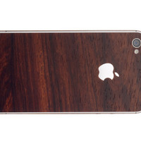 Apple iPhone 4 RoseWood Wrap Decal Skin Bumper and by gripum