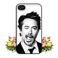 Robert Downey Jr iPhone Case Robert Downey Jr iPhone 4 Case iPhone 4s Case Tony Stark iPhone 5 Case iPhone 5s Case Avengers iPhone Case RDJ