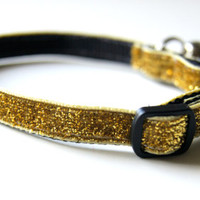 Gold Sparkle Cat or Mini Dog Collar