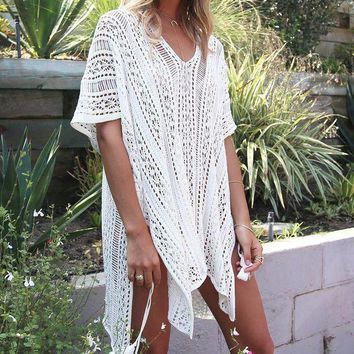 Knitted Pareo Beach 2017 Bathing Suit  Cover Ups Hollow Sexy Swimsuit  Beach Tunic Plage Beachwear  Beach Tunics