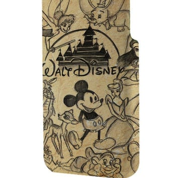 Best 3D Full Wrap Phone Case - Hard (PC) Cover with disney collage vintage Design