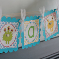 "Little Monster Baby Shower Baby Bash ""It's a Boy"" Baby Bash Banner - Ask About Our Party Pack Special"