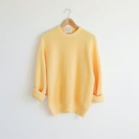 Vintage JEFFLON yellow oversized sweater top.