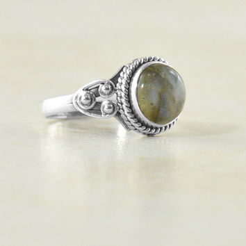 Tara Gemstone Ring in Sterling Silver
