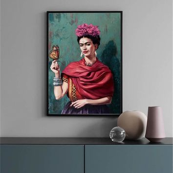 Abstract Canvas Painting frida kahlo Figure Nordic Wall Art Poster Prints Decoration Pictures Living Room unframed Decorative