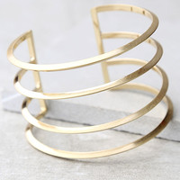 Taking a Chance Gold Cuff Bracelet