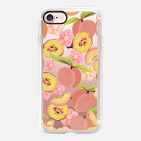 Peaches Transparent Metaluxe iPhone 7 Case by Lisa Argyropoulos | Casetify
