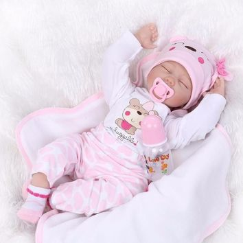 22''Handmade Lifelike Baby Girl Doll
