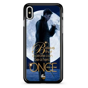 Once Upon A Time Captain Hook Believe iPhone X Case
