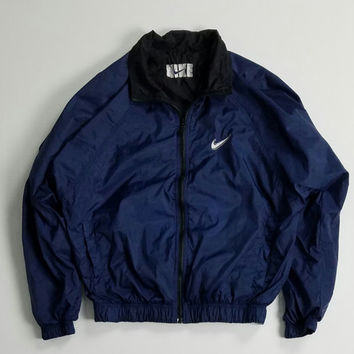 Vintage Nike Windbreaker Jacket Size M, Reversible 90s Nike Jacket