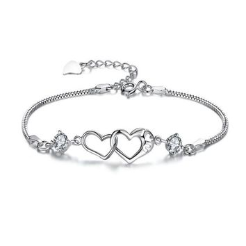 Fashion Contracted Heart-Shaped Bracelet