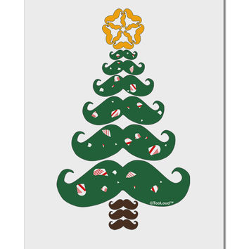 "Mustache Christmas Tree Aluminum 8 x 12"" Sign"