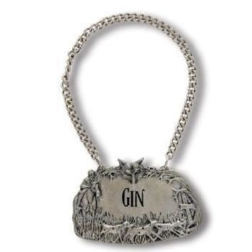 Hunt Pewter Decanter Tags