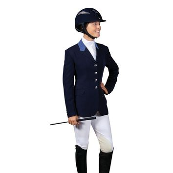 Ovation Ladies Performance Coat with Side Vent - Navy/Blue