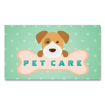 Pet Care Sitting Grooming / Pet Food Beauty Salon Business Card